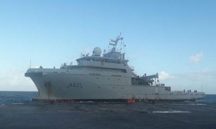 D'Entrecasteaux vessel stopover in Wallis during surveillance mission