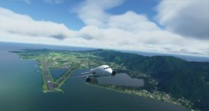 Screenshot of Fly CoralWay's A220 departing from Pago Pago. Credit : Fly CoralWay Facebook account.