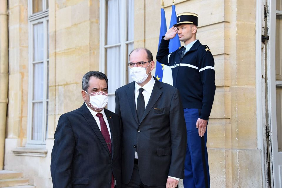 Tahiti's president Edouard Fritch met with the French prime minister in Paris