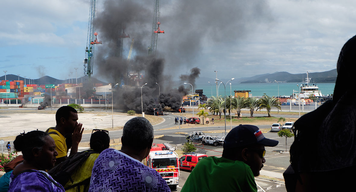 Nickel: Clashed in downtown Nouméa