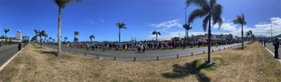 Anti-vaccine demonstration during the lockdown…